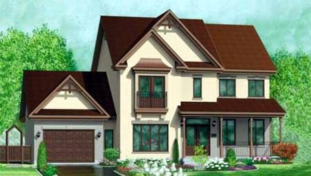 Tudor House Plan 49367 Elevation