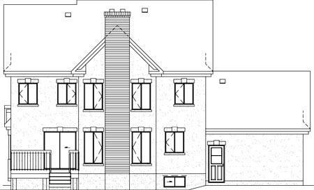 Tudor House Plan 49367 Rear Elevation