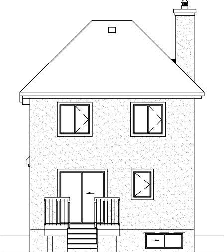 House Plan 49371 Rear Elevation