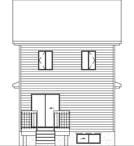 Craftsman House Plan 49374 Rear Elevation