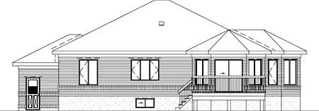 European House Plan 49375 Rear Elevation
