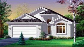 European House Plan 49376 with 2 Beds, 2 Baths, 2 Car Garage Elevation