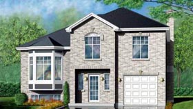 Traditional House Plan 49379 with 3 Beds, 2 Baths, 1 Car Garage Elevation
