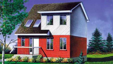 Contemporary House Plan 49380 with 3 Beds, 2 Baths Elevation