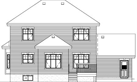 Traditional House Plan 49381 Rear Elevation
