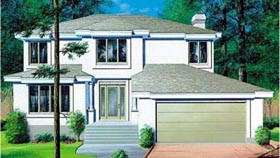 Contemporary House Plan 49383 Elevation