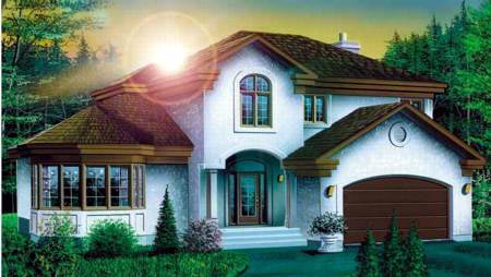 European House Plan 49384 Elevation