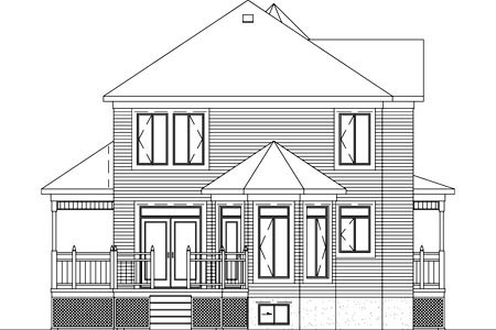 Victorian House Plan 49387 Rear Elevation