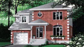 Colonial House Plan 49388 Elevation