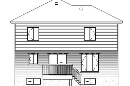 Colonial House Plan 49388 Rear Elevation