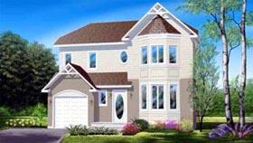 Tudor House Plan 49390 with 3 Beds, 2 Baths, 1 Car Garage Elevation