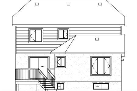 Tudor House Plan 49390 Rear Elevation