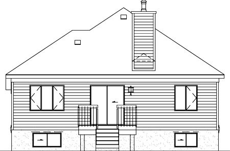 Traditional House Plan 49391 Rear Elevation
