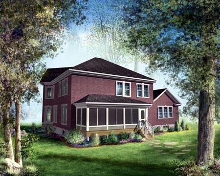 House Plan 49392 Rear Elevation