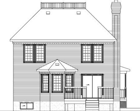 Victorian House Plan 49393 Rear Elevation