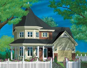 Victorian House Plan 49394 Elevation