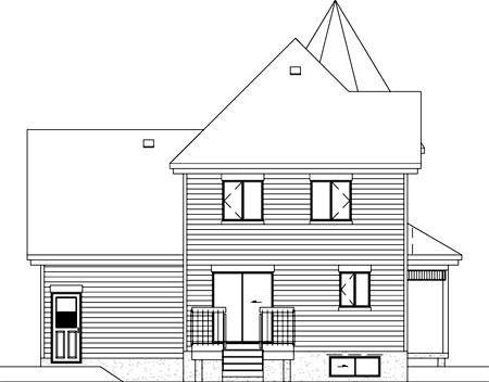 Victorian House Plan 49394 Rear Elevation