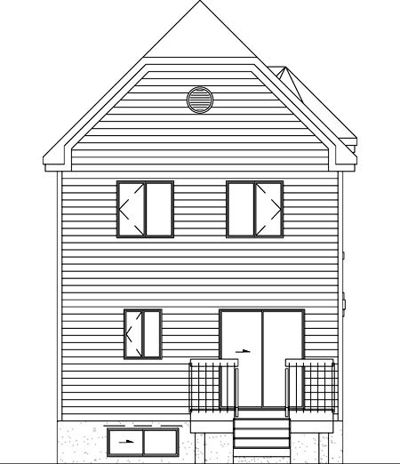 Victorian House Plan 49395 Rear Elevation