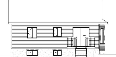 Ranch House Plan 49396 Rear Elevation