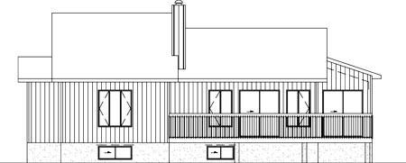 Ranch House Plan 49397 Rear Elevation