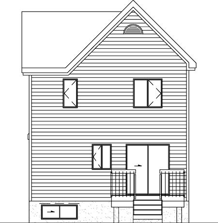 Victorian House Plan 49398 Rear Elevation