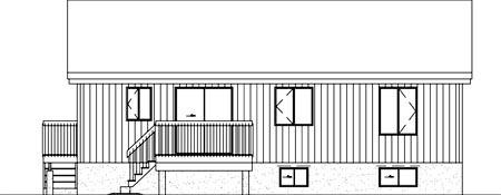 Ranch House Plan 49401 Rear Elevation