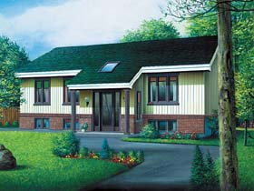 Contemporary House Plan 49402 Elevation