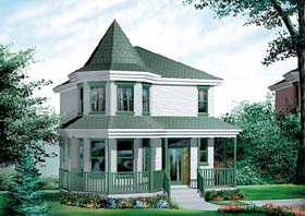 Victorian House Plan 49403 Elevation