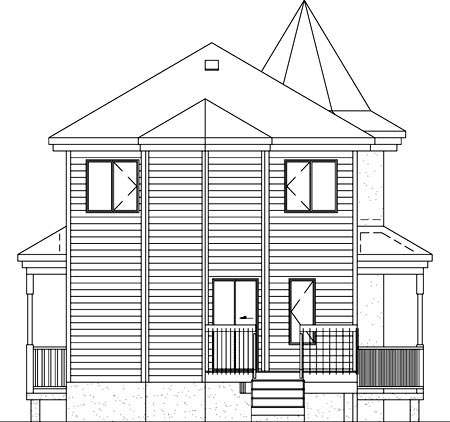 Victorian House Plan 49403 Rear Elevation