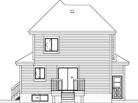 Country House Plan 49404 Rear Elevation