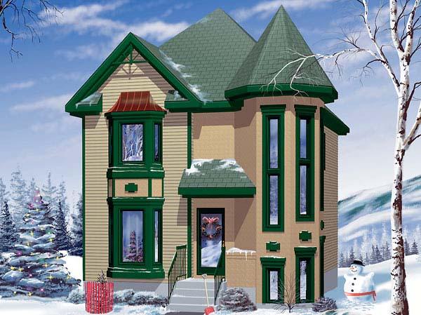 Victorian House Plan 49406 Elevation