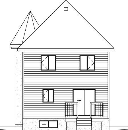 Victorian House Plan 49406 Rear Elevation