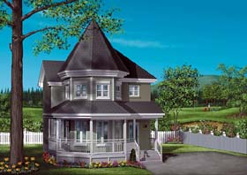 Victorian House Plan 49407 with 3 Beds, 2 Baths Elevation