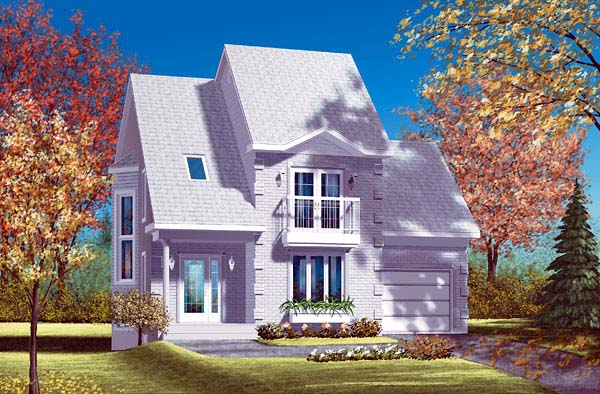 Contemporary House Plan 49408 Elevation