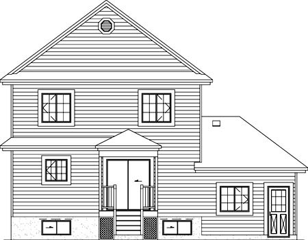 Traditional House Plan 49412 Rear Elevation