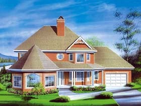 Victorian House Plan 49414 Elevation