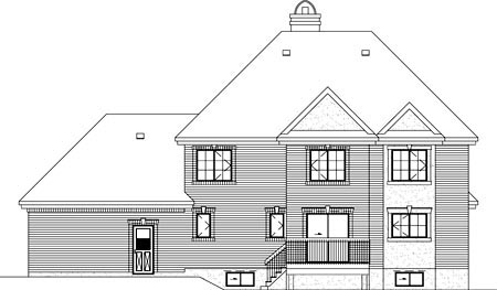 Victorian House Plan 49414 Rear Elevation