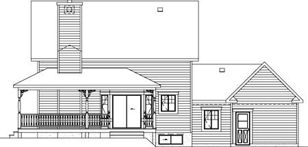 House Plan 49416 Rear Elevation