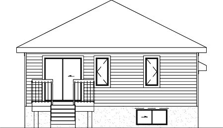 Traditional House Plan 49418 Rear Elevation