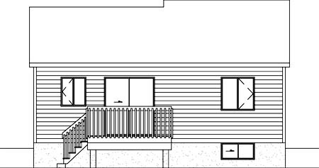 Ranch House Plan 49421 Rear Elevation