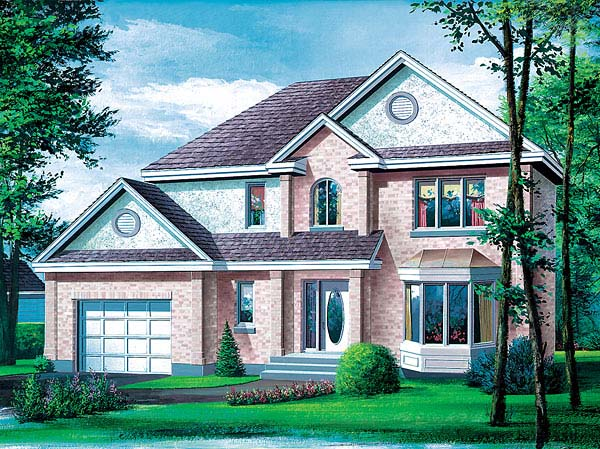 Tudor House Plan 49422 with 3 Beds, 2 Baths, 1 Car Garage Elevation