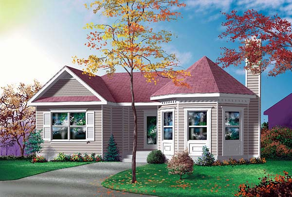 Victorian House Plan 49424 Elevation