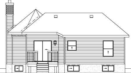 Victorian House Plan 49424 Rear Elevation