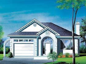European House Plan 49427 Elevation