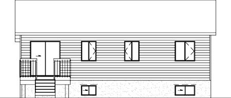 Ranch House Plan 49428 Rear Elevation