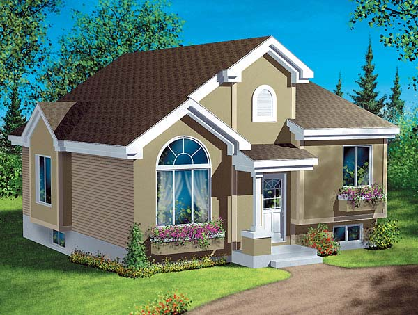 European House Plan 49429 Elevation