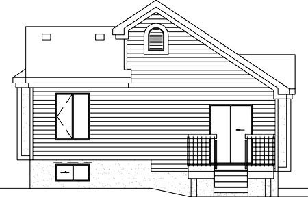 European House Plan 49429 Rear Elevation
