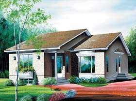 Contemporary House Plan 49431 Elevation