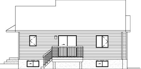 Contemporary House Plan 49431 Rear Elevation