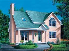 European House Plan 49434 Elevation
